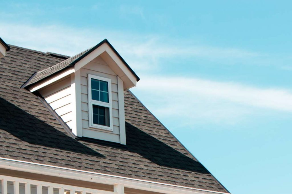 A dormer roof in Denton County Texas