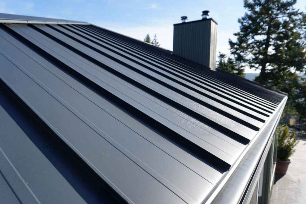 Denton County Home roof that is a standing seam metal roof