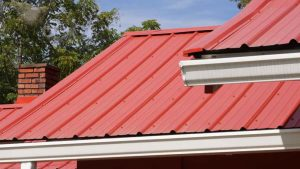 Denton County home with a metal roof installation.