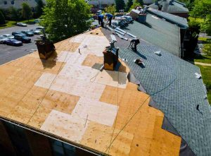 Roof Replacement work being done on a residential home.