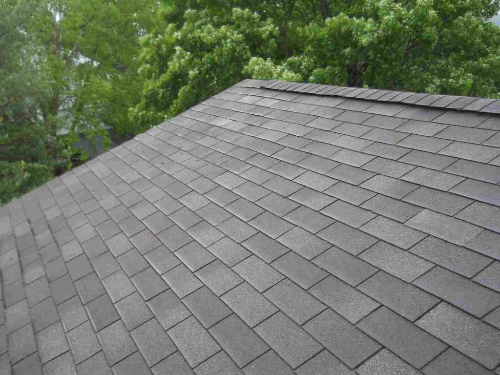 A residential roof constructed with 3-tab shingles