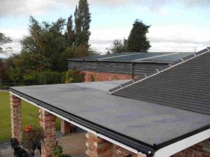 A home with a flat roof