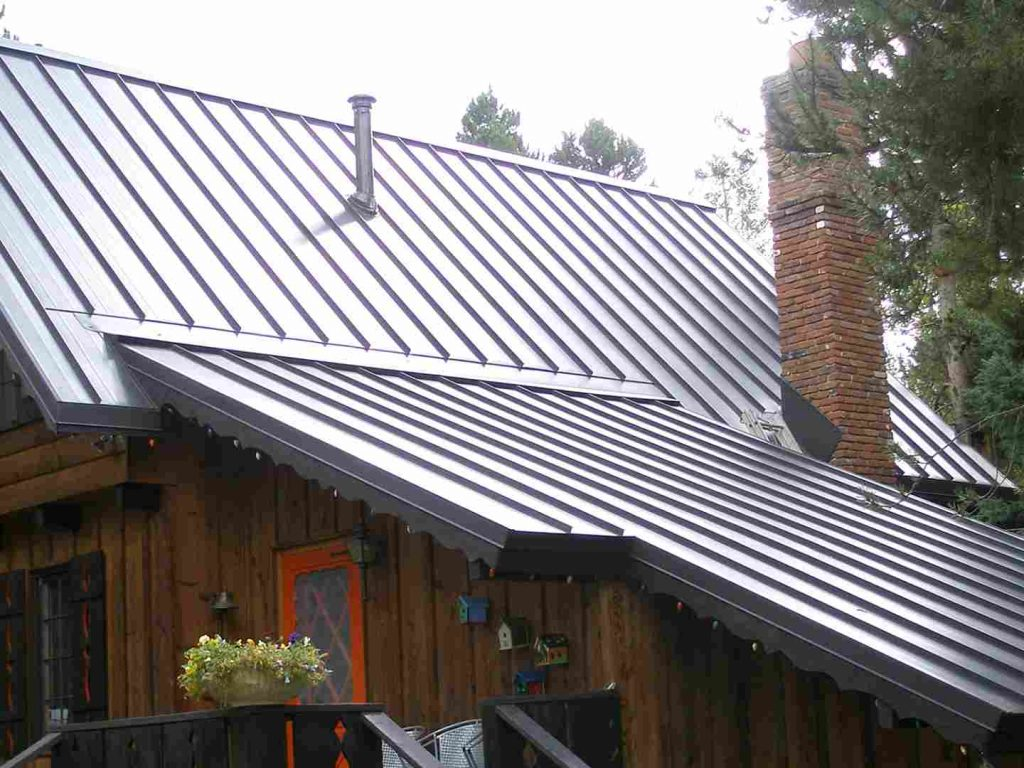 A home with a metal roof