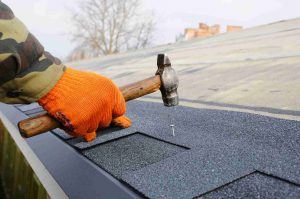 Another roof leak repair by Denton County Roofing.